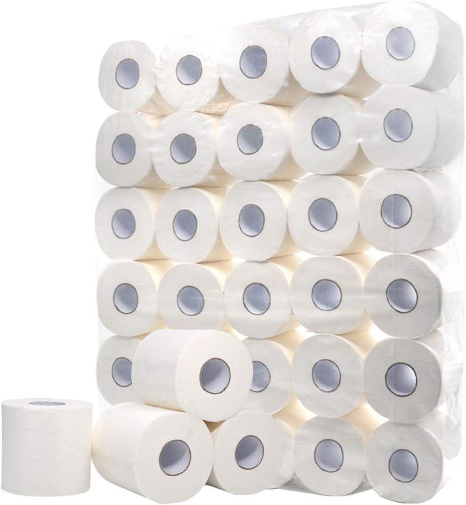 Toilettenpapier,Soft Toilettenpapier,abbaubares Toilettenpapier,geeignet f/ür Badezimmer K/üche 10 Rollen Wei/ß