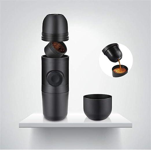lizubing Máquina de café cafetera máquina de café Espresso Mini ...