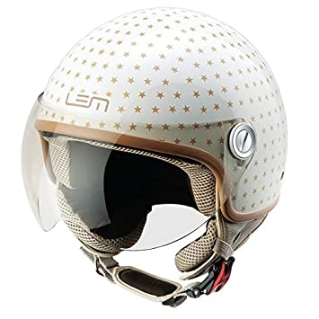 Casco Moto LEM - Roger Dusty, BEIGE/ORO BRILLO (S)