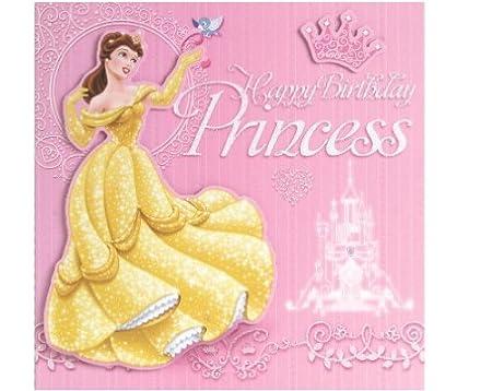 Cumpleaños con texto en inglés de princesas Disney, con ...