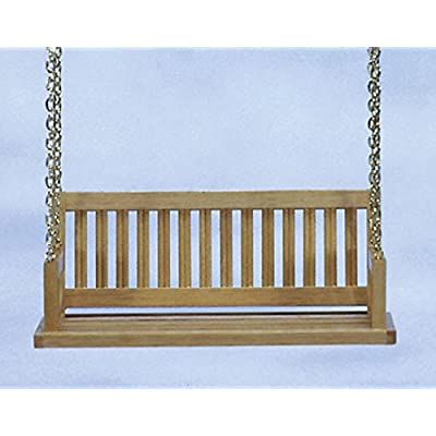 Dollhouse Miniature Porch Swing in Oak: Toys & Games