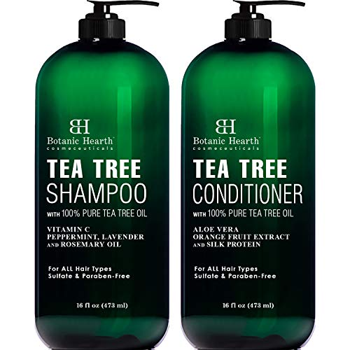 Botanic Hearth Tea Tree Shampoo and Conditioner Set - with 100% Pure Tea Tree Oil