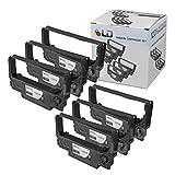 LD Compatible Epson ERC-38B Set of 6 Black POS Ribbon Cartridges for use in ERC-34, ERC-38, TM-300, TM-U200, TM-U210, TM-U220, TM-U230, TM-U280, TM-U300, TM-U325, TM-U370 & TM-U375