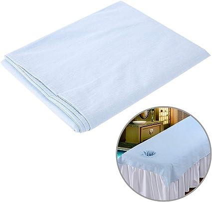 Sábanas de masaje lavables, hipoalergénicas, para cama de masaje, funda de algodón suave, salón de belleza, spa, Sábana bajera de algodón suave de 80 x 200 cm: Amazon.es: Belleza