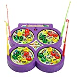 xbox360 old - Adarl Home Garden Children Game Toys Fishing Game Four Frame Electric Fishing Toys With Music Indoor&Outdoor Kids Playing For Boys & Girls 1-8 Years Old (Battery not included)