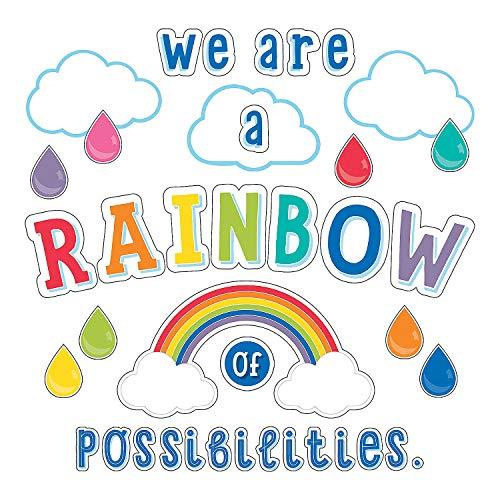 Rainbow Bulletin Board (Fun Express - Sgs Hello Sunshine Rainbow Bb Set - Educational - Classroom Decorations - Bulletin Board Decor - 67)