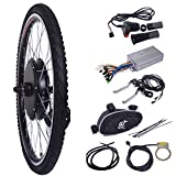 """electric motor bicycle - LAZYMOON 26"""" Front Wheel 48V 1000W Electric Powered Bicycle Motor Cycling Conversion Kit"""