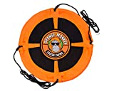 Orange Monkey Saucer Swing | Round Outdoor Tree Swing for Kids | Safety Tested Up to 685 Pounds | 40 Inch Web Swing Can Hold Multiple Kids | Saucer Swing Very Safe for Your Child |