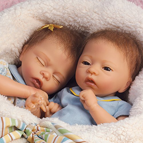 13 Quot Donna Lee Poseable Lifelike Twin Baby Doll Set Taylor