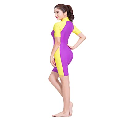 Women Jumpsuit One Piece Swimsuit Full Length Swimming Costume Sun