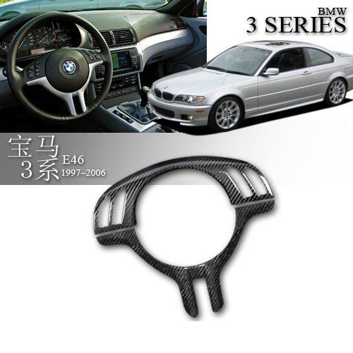 (Eppar New Carbon Fiber Steering Wheel Cover for BMW 3 Series E46 1998-2005 316i 318i 320i 323i 325i 328i 330i 330xi)