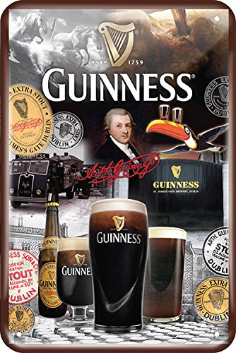 Guinness Metal Sign with Iconic 250 Years Design - Large