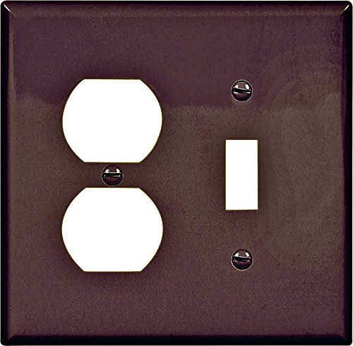 Recept Plate - Cooper Wiring Pj18b 2gang Toggle & Recept Plate, Mid-size - 4.875