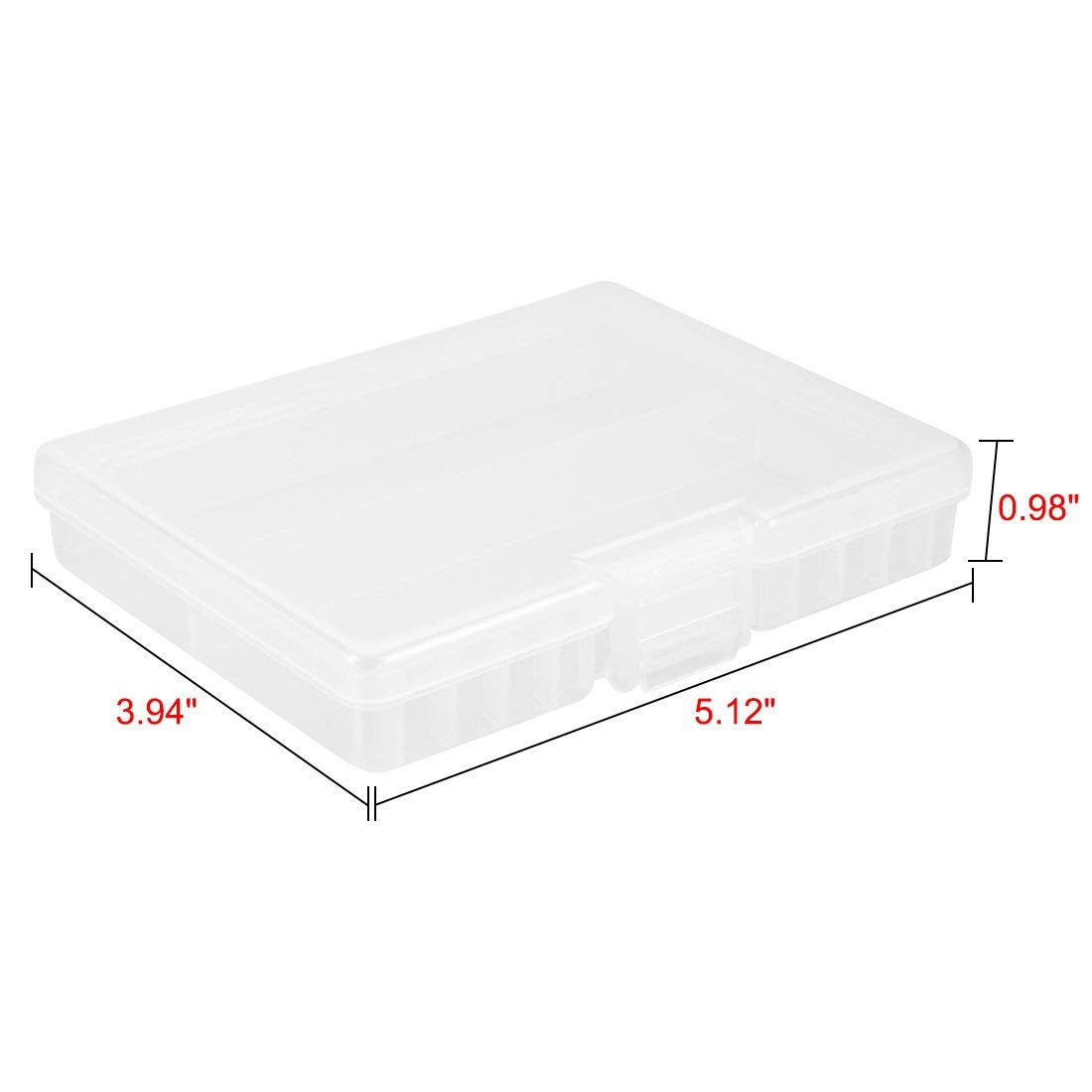 YXQ AA Clear Battery Storage Case Holder Box Plastic Organizer Protective Container Portable for 100xAA
