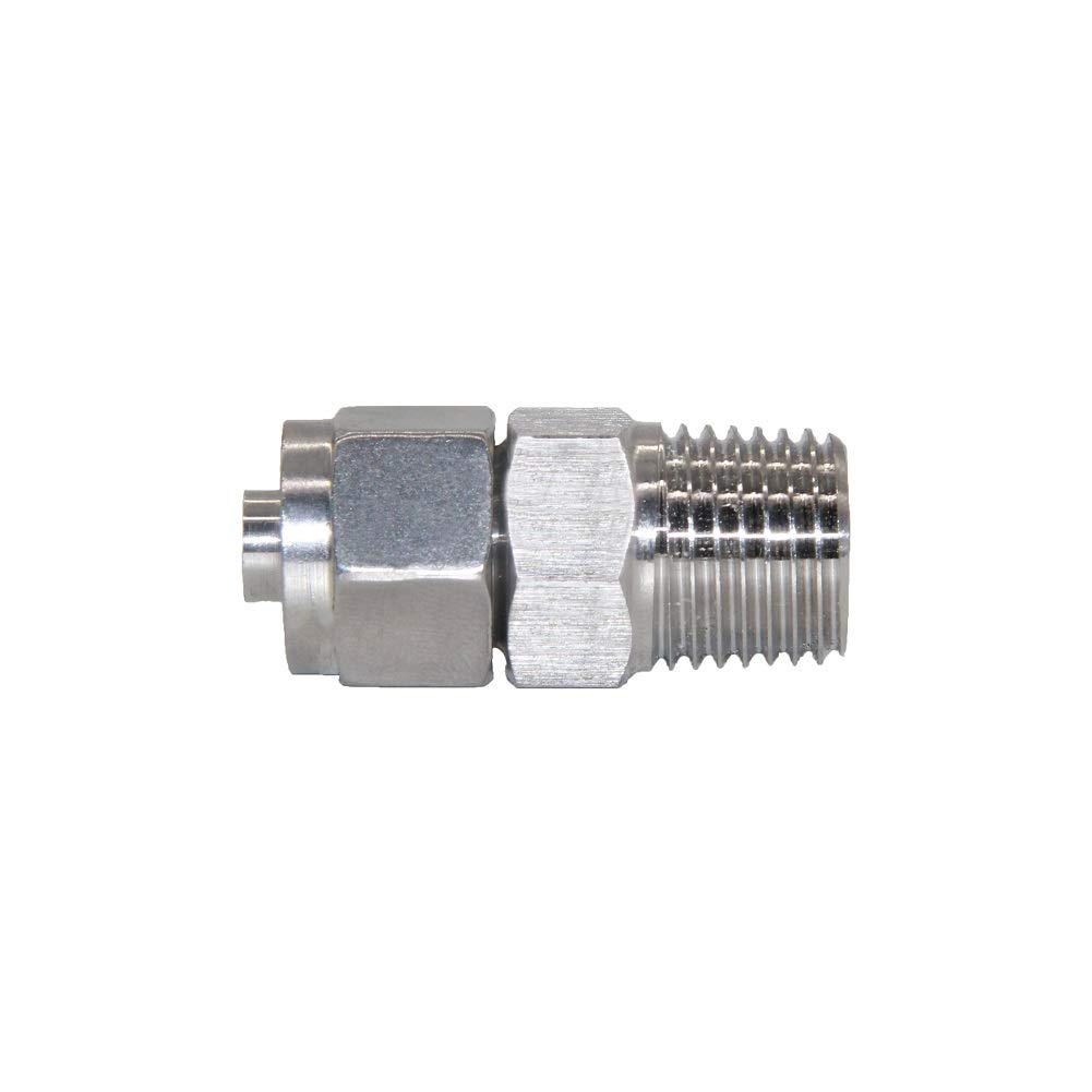 Beduan Stainless Steel 1//2 Male NPT Compression Fitting 3//8 OD