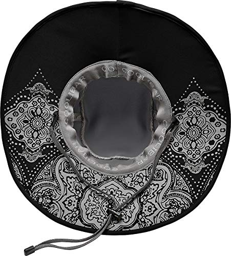Coolibar UPF 50+ Women's Shapeable Sun Catcher Hat - Sun Protective,One Size,Carbon/Black
