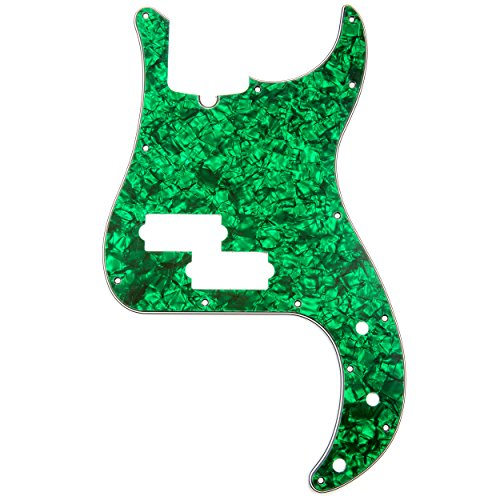 D'Andrea Precision Bass Pickguards for Electric Guitar, Green Pearl