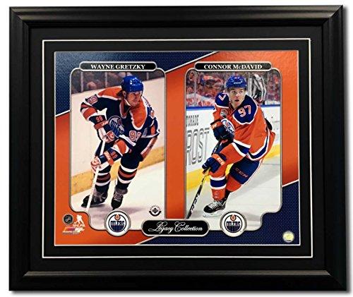 AJ Sports World Connor McDavid & Wayne Gretzky Edmonton Oilers Legacy Collection 31x25 - Edmonton Oilers Framed Nhl