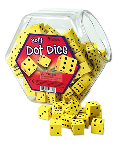 (Learning Resources Hands-On Soft Dot Dice Bucket)