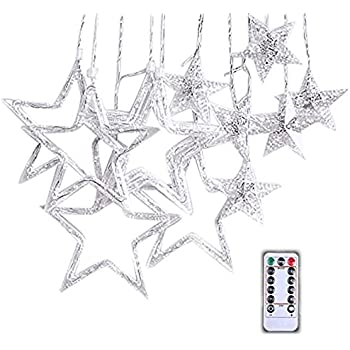 Amazon Com Keweis Star Curtain Lights 138 Led Curtain String