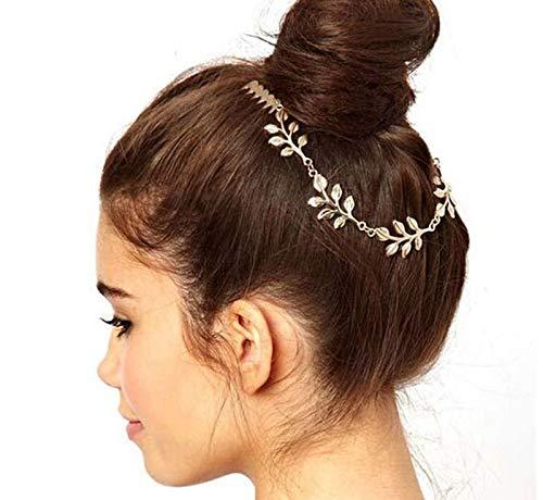 6 Leaves leaf Boho Women Hair Clip Comb Cuff Headdress Headband Head Band Chain