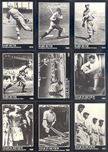 BABE RUTH CONLON COLLECTION 1992 MEGA CARDS INC. COMPLETE BASE CARD SET OF 165 - Conlon Collection
