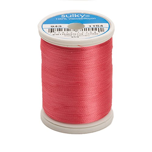 Sulky Of America 268d 40wt 2-Ply Rayon Thread, 850 yd, Coral