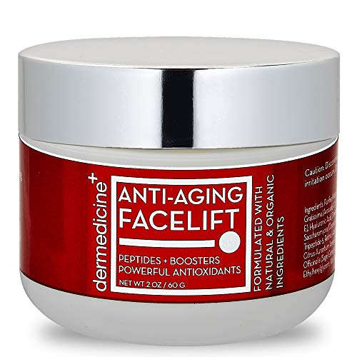 Natural Anti-Aging Facelift Cream for Face | Ultimate Moisturizer w/ Retinol, Peptides, Stem Cells, Hyaluronic Acid, Vitamin E, Grape Seed | Helps Smooth Fine Lines, Wrinkles & Brightens | 2 OZ / 60 G