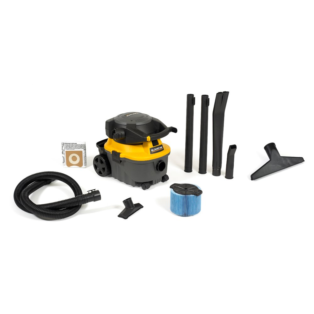 WORKSHOP Wet/Dry Vacs WS0400DE Detachable Blower Shop Vacuum with Wet Nozzle