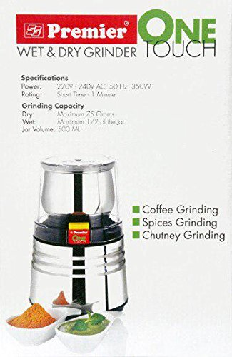 Charmant Premier One Touch Wet And Dry Grinder
