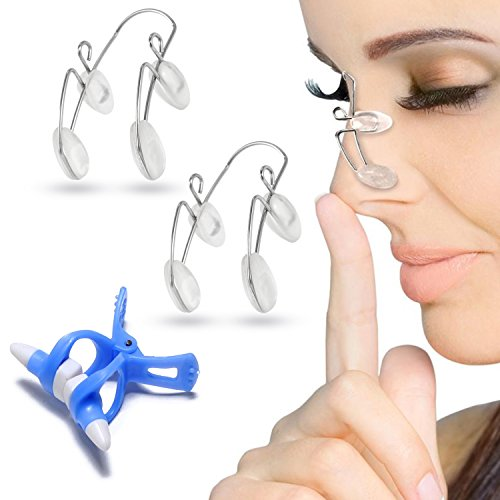 Nose Shaper Clip for Nose Up Lifting, 3 Pcs Nose Slimmer Bridge Straightening Nose Clip, Magic Nose Higher Kit Face Beauty - Beauty Nose Clip