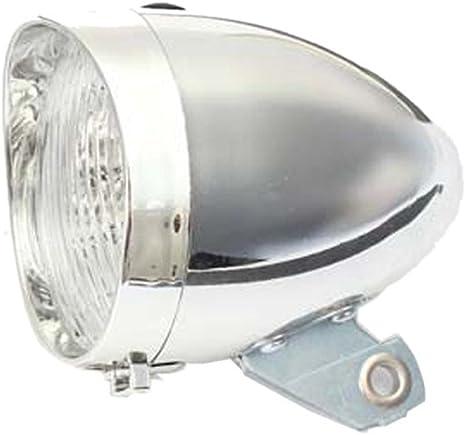 Vovotrade Clásico 3 Linterna LED Bicicleta Luz Delantera Lámpara de Bicicleta Retro Vendimia Faro Linterna (Plateado): Amazon.es: Deportes y aire libre