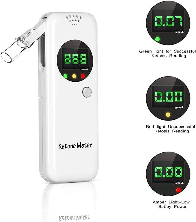 Ketone Breath Analyzer Breath Meter with 1-Button Operation for Ketone Testing