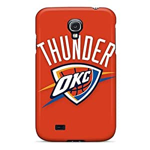 Awesome Nba Oklahoma City Thunder 2 Flip Case With Fashion Design For Galaxy S4