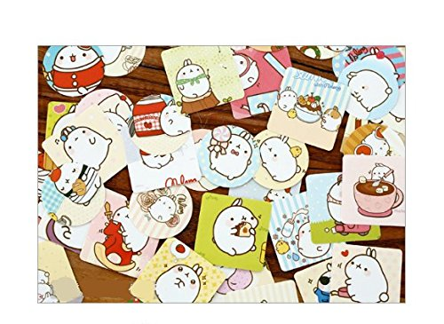 "2 Pack of 46 Pcs Lovely Cute ""Molang Rabbit"" Calendar Diary Book Envelope Label Sticker Scrapbook Decoration Sticker Photo #5"