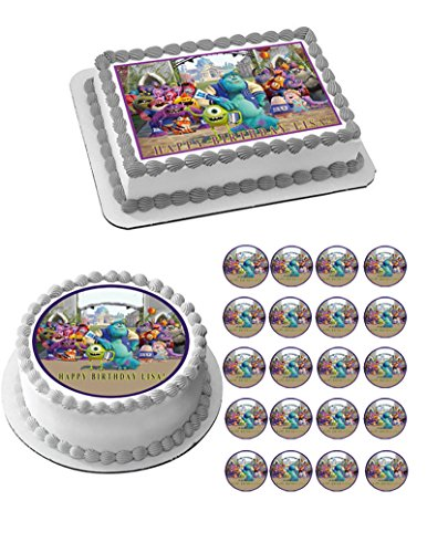 Monsters Inc University - Edible Cupcake Toppers - 1.8