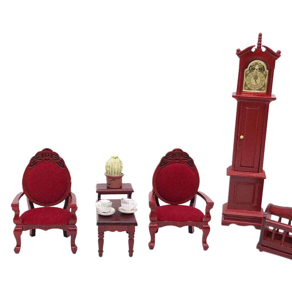 Amazon.com: Binory Mini Wooden Vintage Carved Chairs for 1 ...
