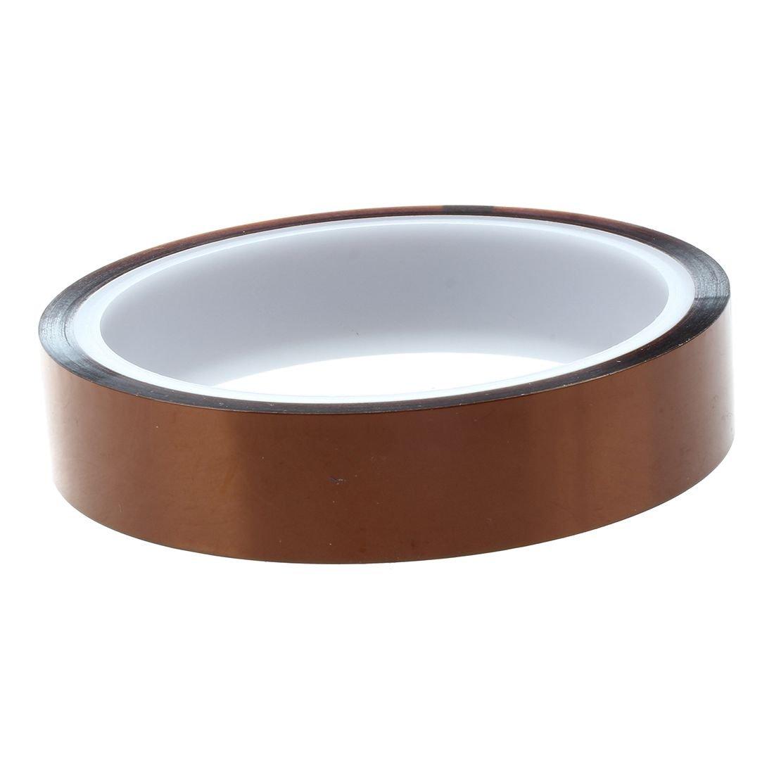SODIAL(R) 100 pies 33m 20mm Kapton cinta de alta temperatura de calor de poliimida resistente