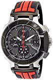 Tissot Men's 'T-Race' Swiss Automatic Stainless Steel and Rubber Casual WatchMulti Color (Model: T0484272706100)