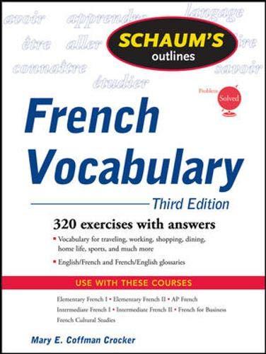 Schaum's Outline of French Vocabulary, 3ed (Schaum's...