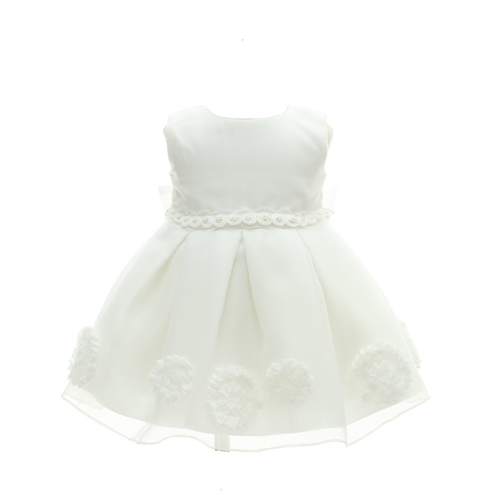 Baby Girl Dress Christening Baptism 2PCS Gowns Formal Dress Moon Kitty