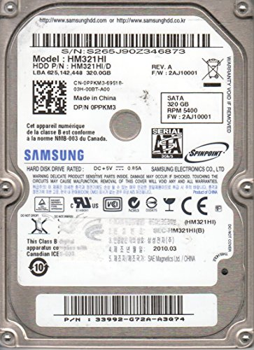 - Samsung Spinpoint 320GB 5400RPM SATA Laptop Hard Drive HM321HI