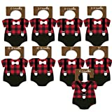 Lumberjack Bodysuit Shaped Baby Closet Dividers for Clothes Organization, Plaid with Black, Little Boy (Ages (up to 3T, 8 dividers))