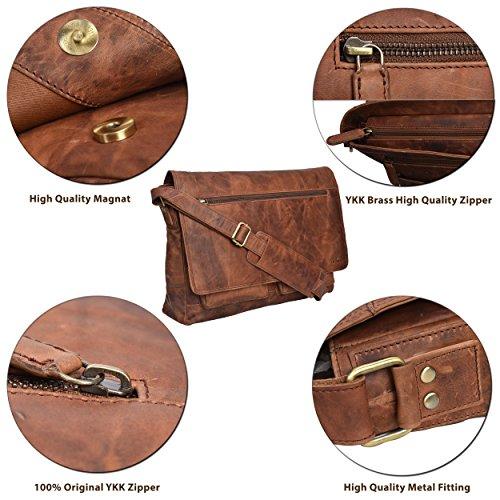 3e90c85b7779 SHOPUS | Genuine Leather Messenger Bag for Men and Women - 14 inch ...