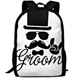 Groom Wedding Bachelor Luxury Print Men And Women's Travel Knapsack