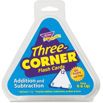 Subtraction Three Corner - TEPT1670 - Trend Addition/Subtraction Three-Corner Flash Cards
