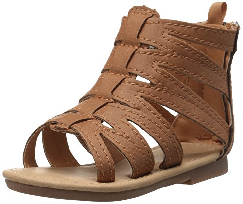 carter's Tracy Girl's Gladiator Sandal, Brown, 8 M US Toddler
