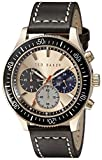Ted Baker Men's TE1125 Rose Gold-Tone Stainless Steel Watch with Brown Leather Band