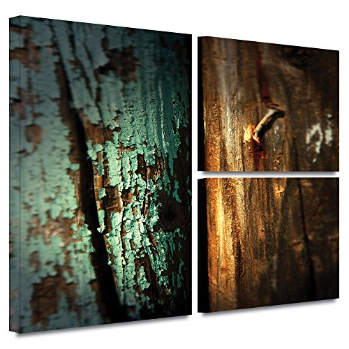 UPC 640823009158, ArtWall Mark Ross 'Wood and Nail' Flag 3-Piece Gallery Wrapped Canvas Art, 24 by 36-Inch
