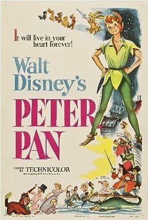 Peter Pan cartel de la película de reproducción 40 x 30 cm ...